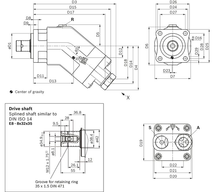 Axial piston fixed pump | Bosch Rexroth Danmark