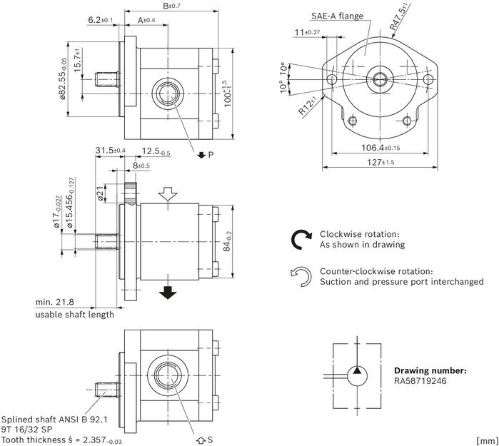 External Gear Pump High Performance Bosch Rexroth Ag
