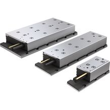 Synchronous linear motors with iron core