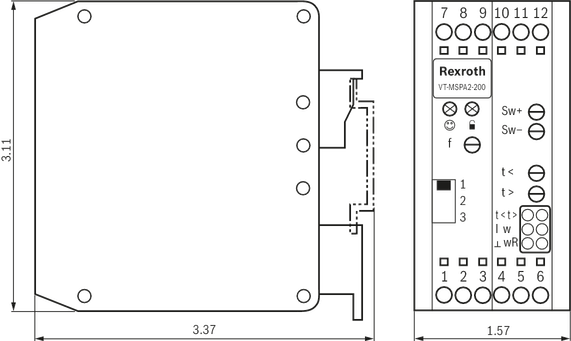 VT-MSPA2-200-1X - Ventilverstärker für Proportional-Wege- und ...